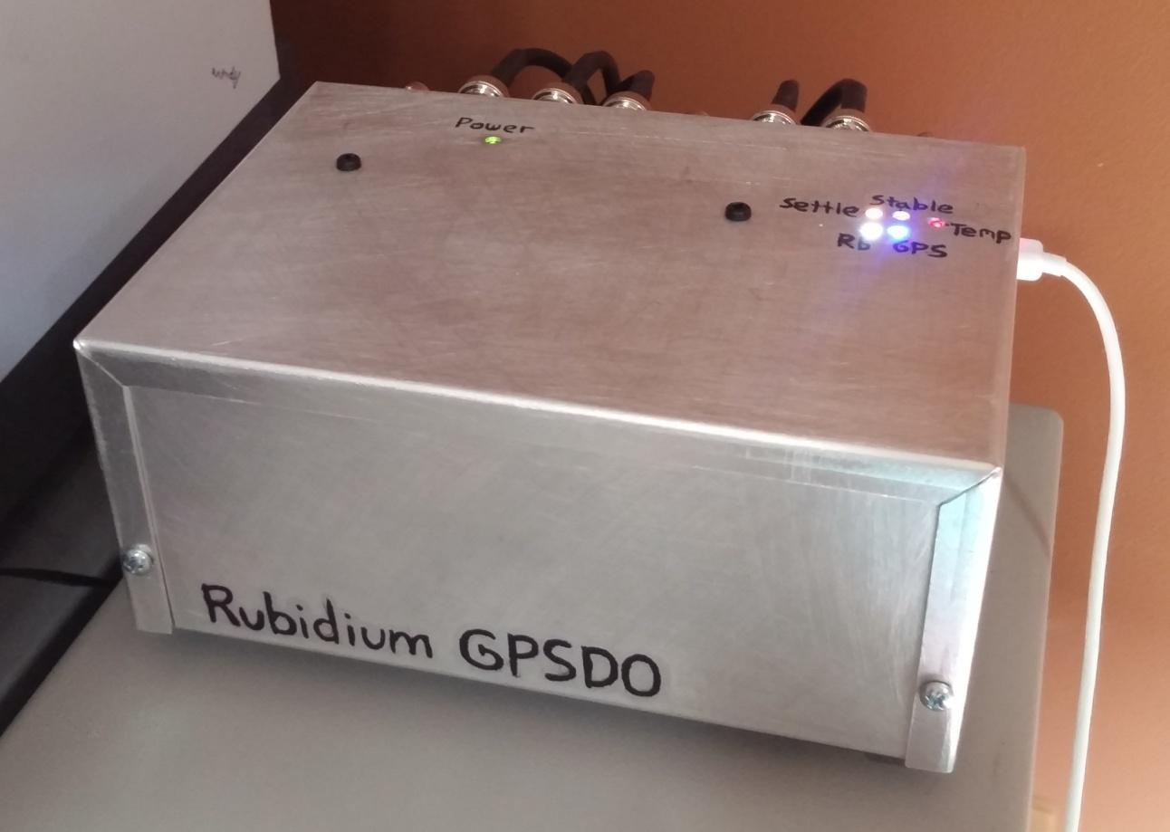 Rubidium GPSDO Precision Frequency Reference