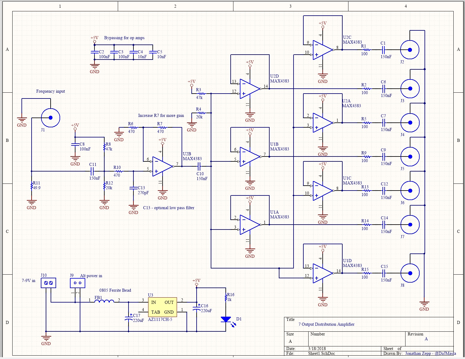 DIY 10 MHz Distribution Amplifier - Requirements Gathering - Page 1